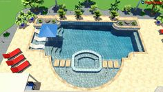 3d Pool, Pool Contractors, Be Confident In Yourself, Custom Pools, Pool Builders, Move Forward, Pool Designs, Outdoor Entertaining, 3d Design
