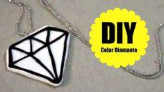 DIY - COLAR DIAMANTE -  #VEDA6 - Biscuit - Polymer Clay