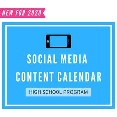 Social Media Content Calendar: High School Volleyball