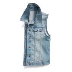 Love this vest & eould live jeans,in matching color! Stitch Fix Summer Styles: Denim Vest Sleeveless Jean Jackets, Stitch Fix Fall, Vest Outfits, Casual Outfits, Vogue, Stitch Fix Outfits, Stitch Fix Stylist, Look Chic, Jeans