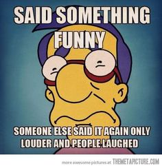 Randall always steals my jokes! I can relate!