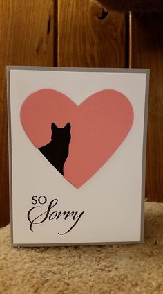Cat I'm sorry card heart