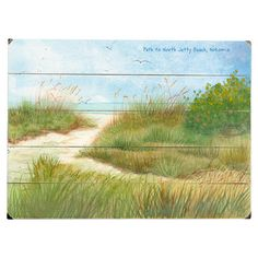Weathered wood wall art with a beach motif.  Product: Wall artConstruction Material: WoodFeatures: Re...