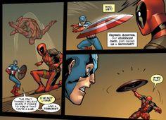 l   ... deadpool story of a evil twin captain america confronts deadpool