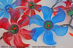 Recycled Water Bottle Flower Patio Lights DIY