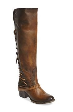 Free shipping and returns on Freebird by Steven 'Coal' Tall Leather Boot (Women) at Nordstrom.com. A striking hand-distressed finish adds rustic appeal to a knee-high leather boot fashioned with a vintage-inspired lace-up shaft.
