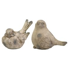 Tuck these adorable birds into the patio planters for a cottage touch, or add them to the library shelves for a charming accent.  Produc...
