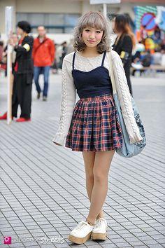 AKINA Shibuya, Tokyo AUTUMN 2012, GIRLS Kjeld Duits STUDENT, 20 Sweater – N/A Skirt – American Apparel Shoes – N/A