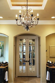 Would love to replace my masterbath door with these! Bathroom Doors Design, Pictures, Remodel, Decor and Ideas - page 12