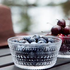 Berries by the lake. Happiness lies in the simple things.