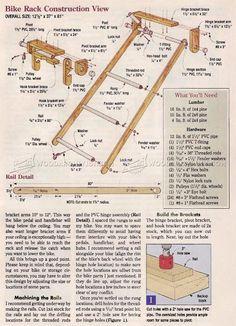 #1714 Swing-Up Bike Rack - Woodworking Plans