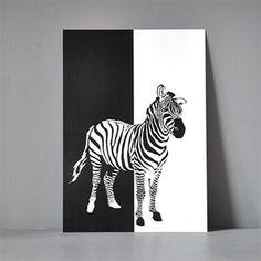 Postkort XL - Zebra