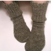 Alaska Crafter: Felted Sweater Socks Tutorial - upcycled from sweater