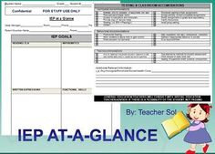 #spedchat The IEP Snapshot you need! Here is a FREEBIE form that you can use to help you inform the regular education teacher(s) of those students in the regular education classroom who have IEP's and may need adaptations.