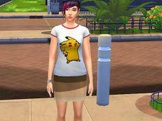 Mod The Sims - Pikachu T-Shirt