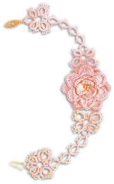 TATtle TALES Tatting Patterns: Tatting PatternTATBiT's Blossom Bracelet Stacked Butterflies & Crochet