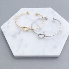"""Bridesmaid Proposal """"will you help me tie the knot"""" Bracelet"""