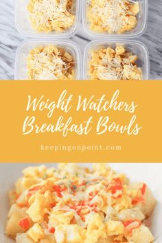 Breakfast Bowls – Weight Watchers Freestyle # Food and Drink breakfast clean eating Petit Déjeuner Weight Watcher, Plats Weight Watchers, Weight Watchers Breakfast, Weight Loss Meals, Weight Watchers Meals, Weight Loss Challenge, Weight Watcher Snacks, Weight Watchers Smart Points, Weight Loss Secrets
