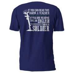 If You Are Reading This in English, Thank a Soldier