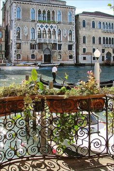 Grand Canal, Venice , Italy I've been here but not with this view! Like you had your own lovely private balcony overlooking the canal!