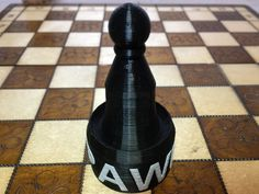Pawn Chess Piece -with PAWN by ASLLEXICON.