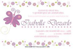 Tarjetas de mariposas para baby shower - Imagui