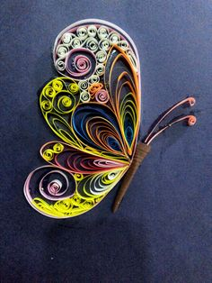 paper quilling butterfly - by: Unknown Quiller