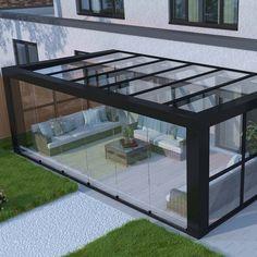 Modern Pergola, Outdoor Pergola, Outdoor Rooms, Garden Room Extensions, House Extensions, House Extension Design, House Design, Contemporary Garden Rooms, Rooftop Terrace Design