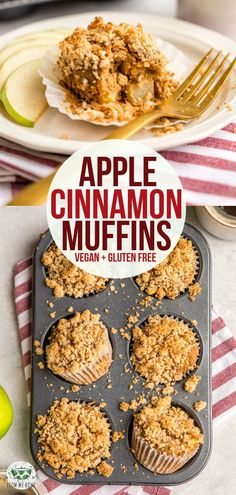 recipes gluten free Apple Cinnamon Muffins Loaded with Apples and a sweet Crumble topping, you won't believe these fluffy Apple Cinnamon Muffins are Vegan, Gluten-Free, and Refined Sugar-Free! Vegan Apple Muffins, Muffins Sans Gluten, Apple Crumble Muffins, Dessert Sans Gluten, Apple Cinnamon Muffins, Healthy Muffins, Cinnamon Apples, Vegan Muffins Gluten Free, Sugar Free Apple Muffins