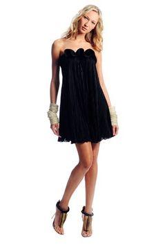 Rashi black mini dress.