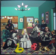Pop Art. Meninas // Equipo Cronica (three spanish painters: Rafael Solbes (1940-1981), Manolo Valdés (1942) y Juan Antonio Toledo (1940)