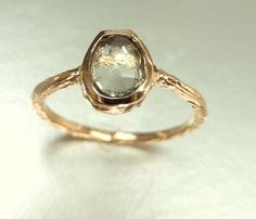 Rose gold ring + saphire