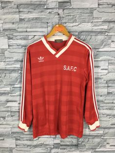 e90977fc9 Vintage 90 s ADIDAS France Jersey Medium Adidas Trefoil Sportswear Football  Team Jersey Red Jersey A