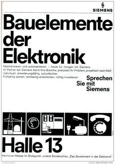 Original-Werbung/ Anzeige 1968 - 1/1 SEITE - SIEMENS ELEKTRONIK / HANNOVER-MESSE HALLE 13 - ca. 190 x 250 mm