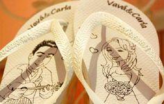 Lembrancinhas de casamento - Sandálias personalizadas
