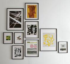 Decoração de: Detalhes ; composição de quadros assimetrica; Casa de Valentina