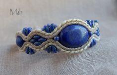 bransoleta sutaszowa z lapis lazuli - Mab Magdalena Bielska