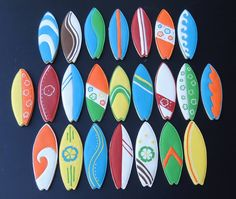 Surfboard cookies -- no link, no recipe