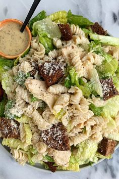 Recipes Pasta Lunch, Summer Pasta Salad, Healthy Cooking, Healthy Eating, Clean Eating, Chicken Caesar Pasta Salad, Whole Food Recipes, Healthy Recipes, Yummy Recipes