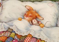 Little Sleeping Buddies (Lisi Martin).  Life is better, when one sleeps under a quilt!