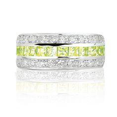 Zinzi: Neon Yellow CZ Ring