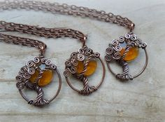 Harvest Moon and Tree of Life by VixensNaturalJewelry on Etsy, $30.00