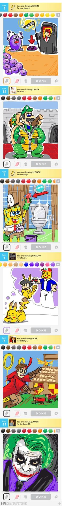 Some epic drawings on Draw Something!
