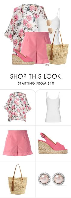 """""""Summer Pink Outfit"""" by colierollers ❤ liked on Polyvore featuring MANGO, RED Valentino, Castañer, Nordstrom, Miu Miu and Ray-Ban"""