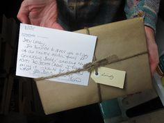 Lindy receives a special package. #thesecretchord #geraldinebrooks #abbeysbookshop #131York #OzLit