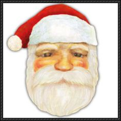 Canon Papercraft - Santa Claus Mask Free Template Download