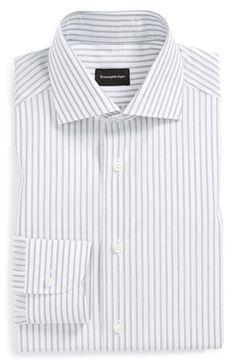Ermenegildo+Zegna+Regular+Fit+Stripe+Dress+Shirt+available+at+#Nordstrom