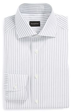 Ermenegildo+Zegna+Regular+Fit+Stripe+Dress+Shirt+available+at+#Nordstrom