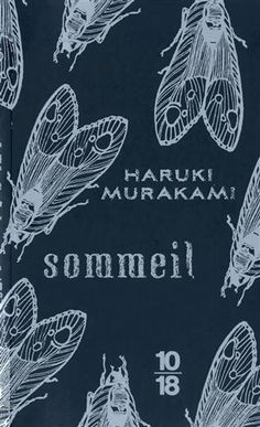 French version of Haruki Murakami's SLEEP, illustrated in navy and silver by Kat Menschik. Cool Books, I Love Books, My Books, Best Book Covers, Beautiful Book Covers, Graphic Design Branding, Lettering Design, Book Cover Design, Book Design