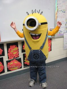 Emi wants to be this for Halloween.  Coolest Homemade Despicable Me Minion Costume ... This website is the Pinterest of costumes